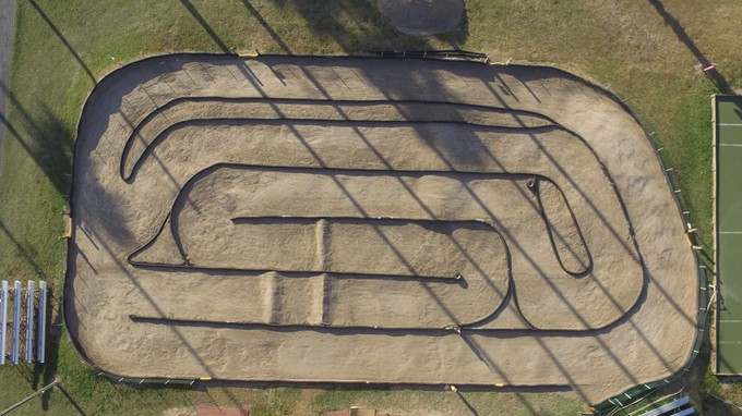 birdseye view of new track layout